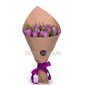 15 тюльпанов в крафте