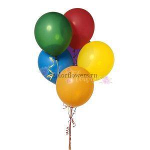 5 разноцветных воздушных шариков