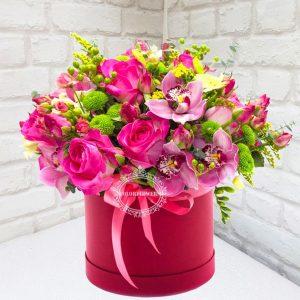 """Шляпная коробка """"В розовых тонах"""""""