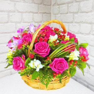 """Корзина цветов """"Душа"""""""