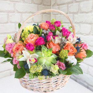 "Корзина цветов ""Королевская корзина"""