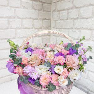 """Корзина цветов """"Вечерний вальс"""""""