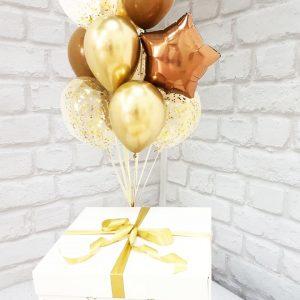 Коробка воздушных шаров с сюрпризом